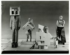 The New York Five wearing their own designs for a 1996 Vanity Fair feature (from left) Michael Graves, Charles Gwathmey, Richard Meier, Peter Eisenman. John Hejduk (not pictured) Michael Graves, Richard Meier, Museum Of Contemporary Art, Contemporary Architecture, What Is Postmodernism, Bauhaus, John Hejduk, Futuristic Costume, New York City