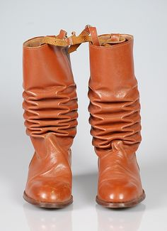 ARGENTINA | Clavado. Riding boots, 1955–60. Argentinian. The Metropolitan Museum of Art, New York. Brooklyn Museum Costume Collection at The Metropolitan Museum of Art, Gift of the Brooklyn Museum, 2009; Gift of the International Business Machine Corporation, 1960 (2009.300.5096a–d) #WorldCup