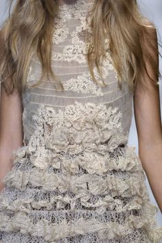 Chanel - I love the lace on this, I am a sucker for romantic details