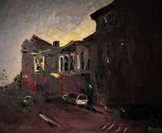 Nocturna urbana,ulei/panza,50/60cm,