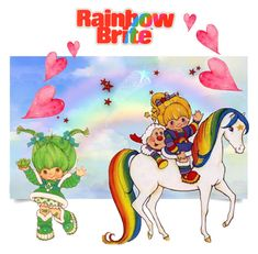 """""""Rainbow Brite"""" by angelarmoyer ❤ liked on Polyvore featuring art"""