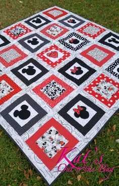 Minnie Mouse Quilt and Mickey Mouse Quilt Disney Themed by ktb8293