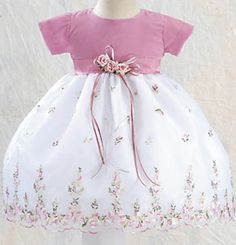 Check out the deal on Mauve Velvet and Embroidered Organza Baby Dress 9-12M at Adorable Baby Clothing #adorablebabyclothing