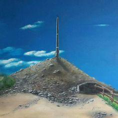 Autore. Nicola soriani  Titolo.  La croce di ferro  Anno. 2015 Tecnica. Olio su tela  Dimensioni. 60 x 60 cm  Uno dei luoghi simbolo del cammino di Santiago