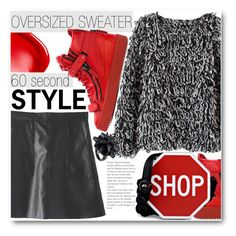"""Oversized sweater"" by stylemoi-offical ❤ liked on Polyvore featuring Giuseppe Zanotti, Moschino, NARS Cosmetics, Eddie Borgo, oversizedsweater, sweaterweather, 60secondstyle and stylemoi"