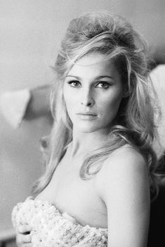 Ursula Andress, photographed by Terry O'Neill, 1966.