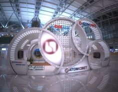 """Check out new work on my @Behance portfolio: """"Exhibition stand for """"ATOMSVET""""""""…"""