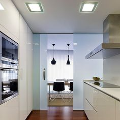 separate room for kitchen... not a very popular idea, but its very pratical