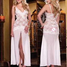 New Women Long Romantic Nightgown Wedding Bridal Sexy Lingerie Erotic Underwear Sexy Pajamas lenceria sexy underwear