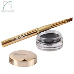 1 Set New Brand EFU Beauty Waterproof Black Eye Liner maquiagem Gel Cream Makeup Cosmetic Eyeliner + Brush #7015