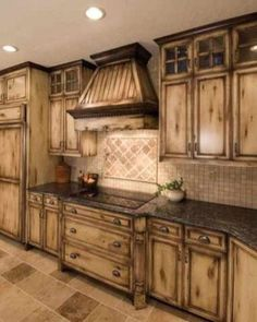 Stunning Rustic Kitchen Cabinets Ideas 15