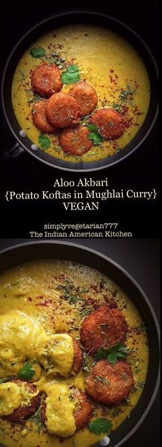 Aloo Akbari {Potato Kofta in Vegan Mughlai Curry} - Delicious Vegan Mughlai Curry Aloo Akbari {Potatao Kofta in Vegan Mughlai Curry} is the Rich Indian ROYAL CURRY fit for the kings. The best part is that it is vegan and has been tried and tested by many. Veg Recipes, Curry Recipes, Indian Food Recipes, Vegetarian Recipes, Cooking Recipes, Healthy Recipes, Cooking Tips, Recipies, Batata Potato