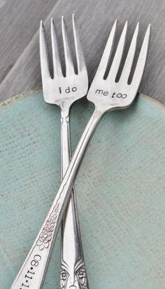 I do. Me too. Vintage Wedding Cake Fork Set