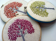 Orange Tree. hand embroidered. hoop art. housewarming by mlmxoxo