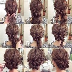 Knotted Updo for Medium Length Hair