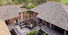 Terrace made of tropical wood The Warm Half Concrete Half Wood House Rooftop Patio, Terrace, House In The Woods, My House, Rural House, Farm House, Wood House Design, Thai House, Wood Shingles