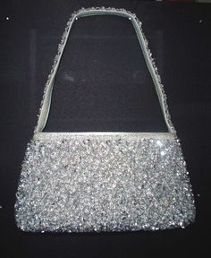 Can't go wrong with a silver beaded purse!