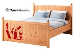 Vinilo cama Ikea (LOVE) #makea #ikea #paris #cama #decoracion #vinilo #ideas #TeleAdhesivo Cama Ikea, Skyline, Barcelona, Toddler Bed, Paris, Baby, Furniture, Home Decor, Bed Feet