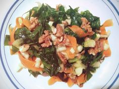 Summer dinner ideas: fennel and carrot salad with seaweed and walnuts
