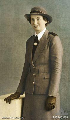 Studio portrait of Staff Nurse Vivian Bullwinkel, Australian Army Nursing Service (AANS), in service dress uniform. Bullwinkel is well known as the sole survivor of the infamous Banka Island massacre in which 21 of her AANS colleagues were killed by Japanese troops.