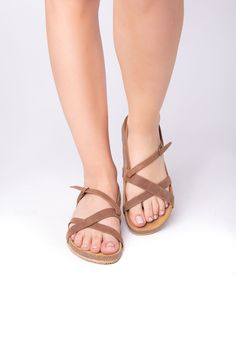 Nomad brown anatomic sandals - Leather sandals, light sandals, traveller sandals #WomenSandals #anatomic #AnatomicSandals #LeatherSandals #Sandals2020 #Birkenstock #WalkingSandals #outdoors #TrekkingSandals #FlatSandals Flat Sandals, Leather Sandals, Trekking Sandals, Birkenstock Mayari, Greek, Outdoors, Trending Outfits, Brown, Unique Jewelry