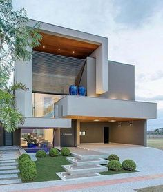 Color home design ideas. Contemporary house designs have a lot to supply to a modern occupant. Lastly, the modern house design does not limit imaginative minds by any means. Modern House Plans, Modern House Design, Best House Plans, Contemporary Design, Facade Design, Exterior Design, Exterior Homes, Casa Clean, House Elevation