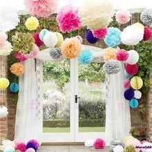"""10 pz/lotto carta velina pom fiori balls 10 """"wedding birthday party decor spedizione gratuita(China (Mainland))"""