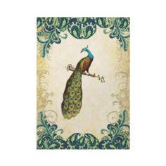 Teal Gold & Lime Peacock Wedding Invitations invitation