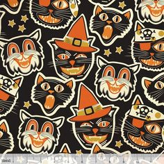 Spooktacular Eve 101.107.11.1 Black Cat-tastic by Maude Asbury for Blend