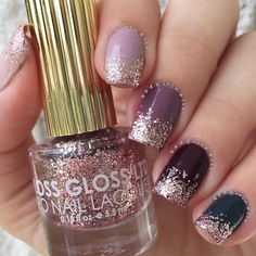 Fall Mix and Match glitter gradient featuring some of my fav @flossgloss…