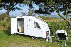 Der Ultraleicht-Caravan für Fahrräder Widepath Camper (Quelle: Poul Halkjaer/AltOmCamping.dk)