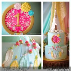 RC Tepee & Feather Cake