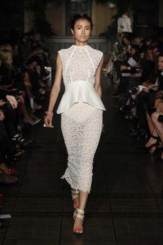 Manning Cartell, intertwined cotton lace dress, contrast peplum
