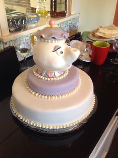 My birthday cake. Mrs Potts made by Emma the magnificent