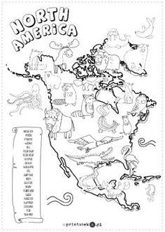 Animals of the world – continent map - Printoteka. Stem Science, Science For Kids, Montessori Activities, Book Activities, Countries And Flags, Geography For Kids, Kindergarten Social Studies, Polish Language, Material Didático