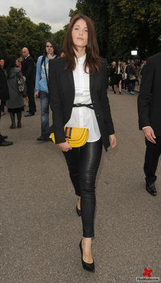 Faux Leather Pants | White Button-Down | Black Blazer | Black Skinny Belt