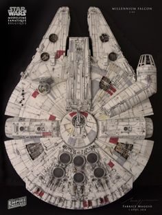 I am so pleased to see builds of the DeAgostini studio scale Millennium Falcon being completed! Star Wars Boba Fett, Star Wars Clone Wars, Star Wars Art, Lego Star Wars, Star Trek, Millennium Falcon Model, Star Wars Models, Star Wars Action Figures, Darth Maul