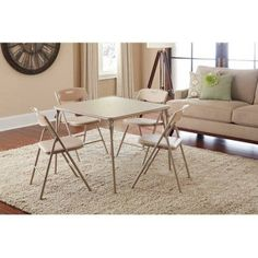 Cosco 5 Piece Folding Table And Chair Set Multiple Colors Walmart Com Card Table And Chairs Table And Chair Sets Folding Table