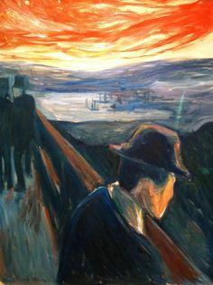 """Andere Fassung von """"Der Schrei"""". Edvard Munch malte mehrere Bilder mit diesem Titel."""