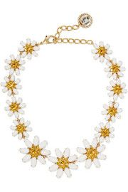 Dolce & GabbanaGold-plated, Swarovski crystal and glass necklace