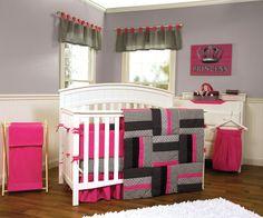 Amazon.com : Trend Lab Crib Bumpers, Serena : Pink And Black Crib Bumper : Baby