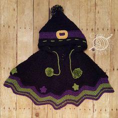 Witchipoo Halloween Poncho ~ Sew Crafty Crochet
