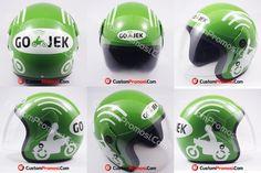 Helm Gojek Bagi yang tinggal di Jabodetabek dan beberapa kota besar di Indonesia mungkin tidak asing lagi dengan Ojek online yang salah satunya adalah Gojek. Kami dipercayakan untuk memproduksi helm Gojek sebanyak puluhan ribu buah.
