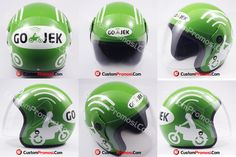 "Helm Promosi Pesanan ""GOJEK"" Info Harga Hubungi +6281287068190"