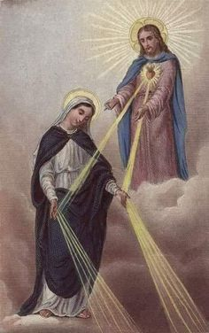 Graces poured out to us from the hands of Our Lady, directly given by Jesus her son.to lead us to her son Jesus. Blessed Mother Mary, Blessed Virgin Mary, Catholic Prayers, Catholic Saints, Roman Catholic, Religion, Jesus E Maria, Mama Mary, Religious Pictures