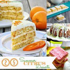 25 Succulent Summer Citrus Desserts