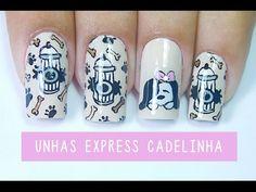 Unhas Express Cadelinha #17 carimbando com plaquinha | Dog Nail art | Aline Makelyne - YouTube