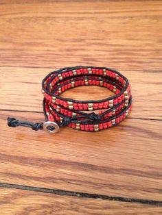 Valentine's Collection: Red Wraparound Bracelet @WorldFinds #handmade, #india, #fairtrade