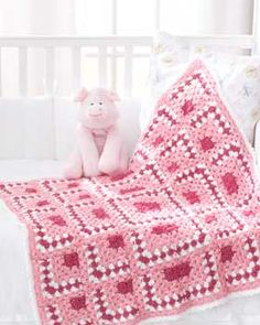 Bernat: Pattern Detail - Baby Coordinates - Puzzle Blocks Baby Blanket (cr)