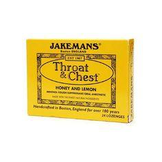 Jakemans Throat And Chest Lozenges - Honey And Lemon - 24 Pack